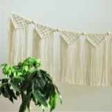 Brick Fireplace Facelift, Macrame Garland