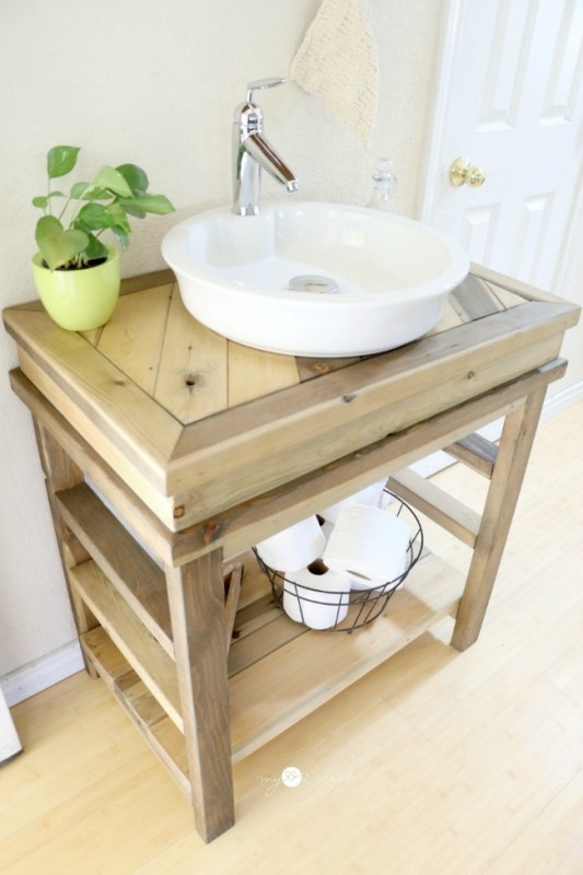 Build With 2x4s, Small Bathroom Vanity, Mylove2create