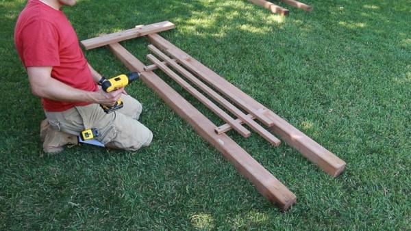 building a garden arbor using 2x4s