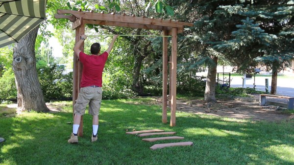 how to build a garden arbor and check for square