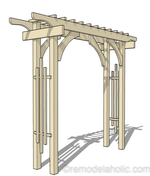 how to build a wood garden arbor wedding arch #remodelaholic