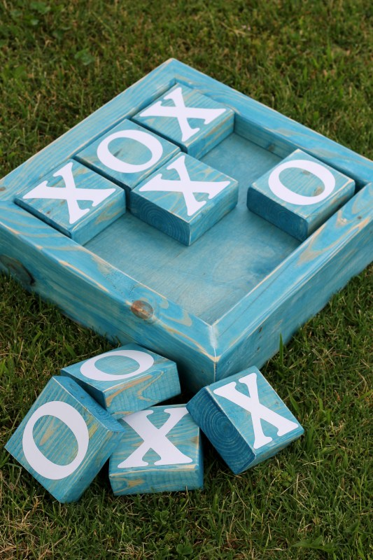 2x4 wood projects, Tic Tac Toe Board At GingerSnapCrafts.com