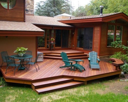 Multi Level Deck With No Railing