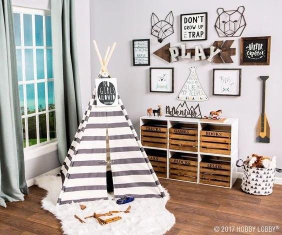 Playful And Blue: Boys Playroom Decor And
