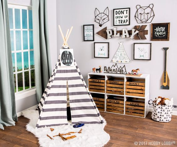 Remodelaholic Playful And Blue Boys Playroom Decor And