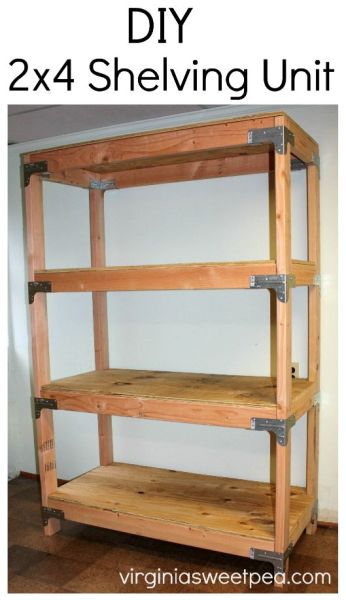 Remodelaholic 20 Fantastic Diy 2x4 Shelving Ideas