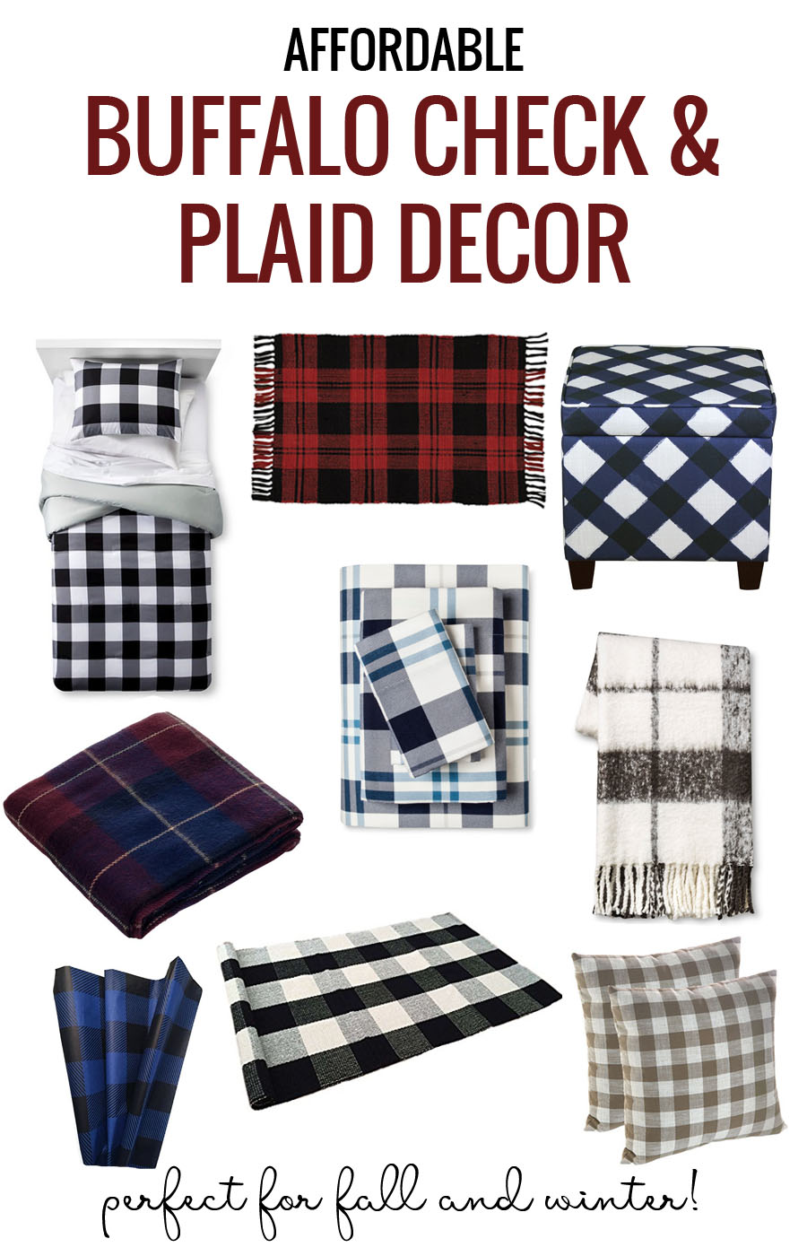 Remodelaholic Affordable Plaid And Buffalo Check Home