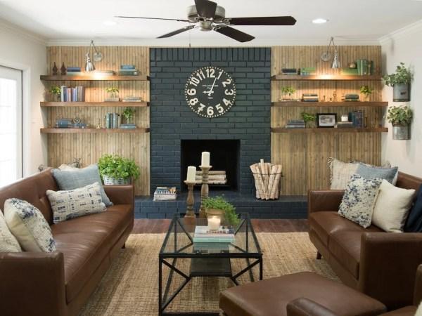 Fixer Upper Pocket Door House Living Room