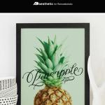 Printable Kitchen Wall Art, Pineapple Word Art, AD Aesthetic For Remodelaholic