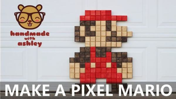 Super Mario Pixel Wall Art Decor Retro 8bit