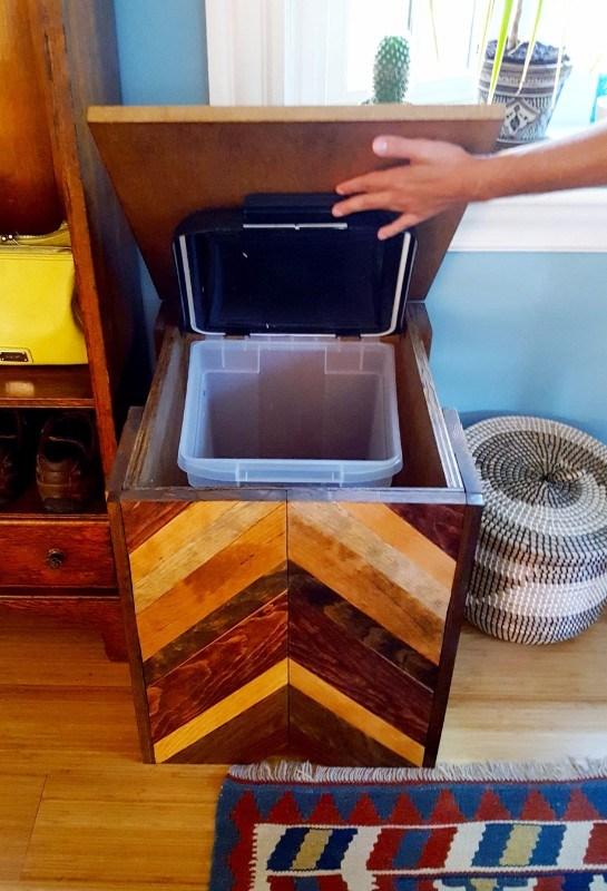 Birdseed Storage Container DIY Plaster Disaster 13