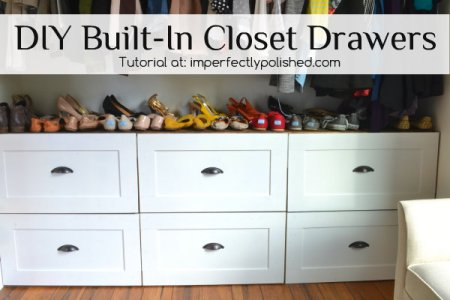 DIY Built In Closet Drawers Tutorial