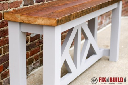 DIY Truss Console Table 103