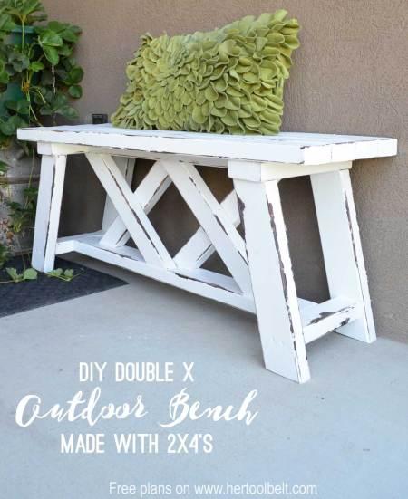DIY Outdoor Bench From 2x4s