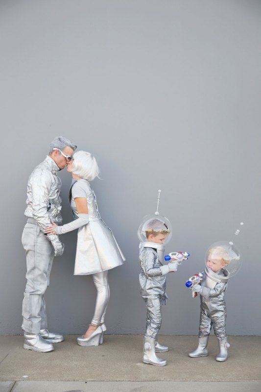 Family Futuristic Costume Tell Love And Party