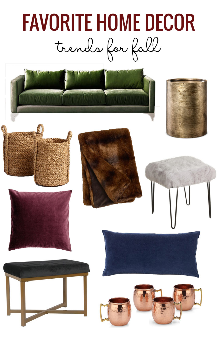 Favorite Home Decor Fall Trends featured on Remodelaholic.com
