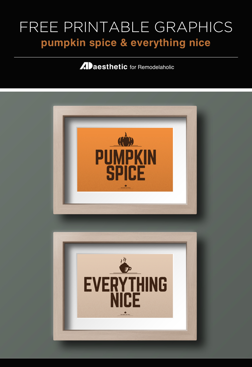 Free Printable Graphic • Pumpkin Spice & Everything Nice • AD Aesthetic For Remodelaholic • Vertical