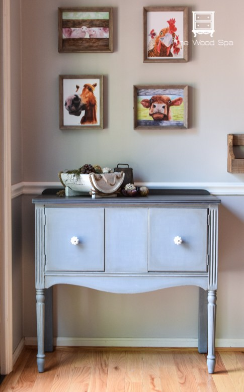 Little Gray Sideboard The Wood Spa 1