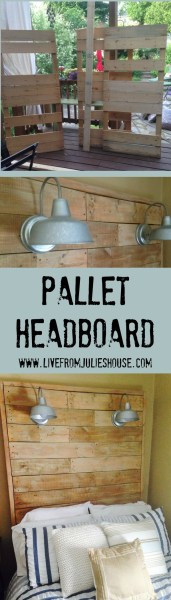 Pallet Headboard Pinterest Image
