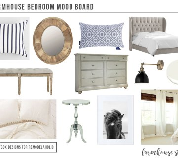12 Items for a Perfect Farmhouse Style Bedroom by Postbox Designs E-Design