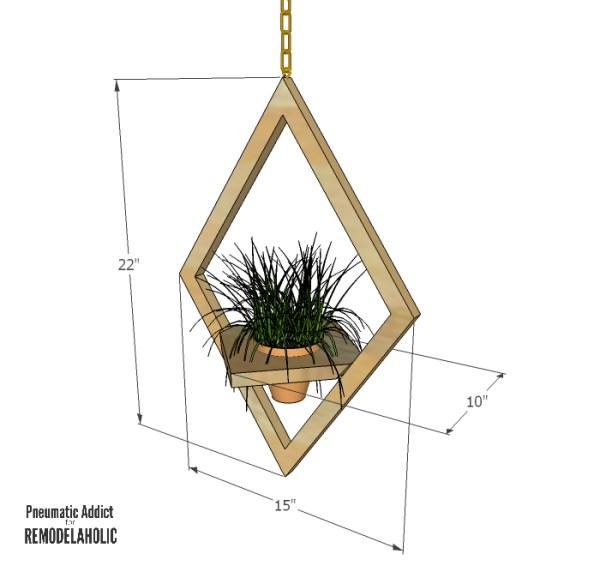 West Elm Hanging Planter Dimensions WM