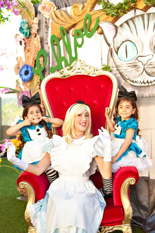 Alice In Wonderland Twins Birthday Party 1