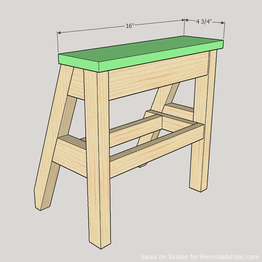 Remodelaholic diy ladder chair a modern twist on an american diy ladder chair sawsonskates 17 fandeluxe Choice Image
