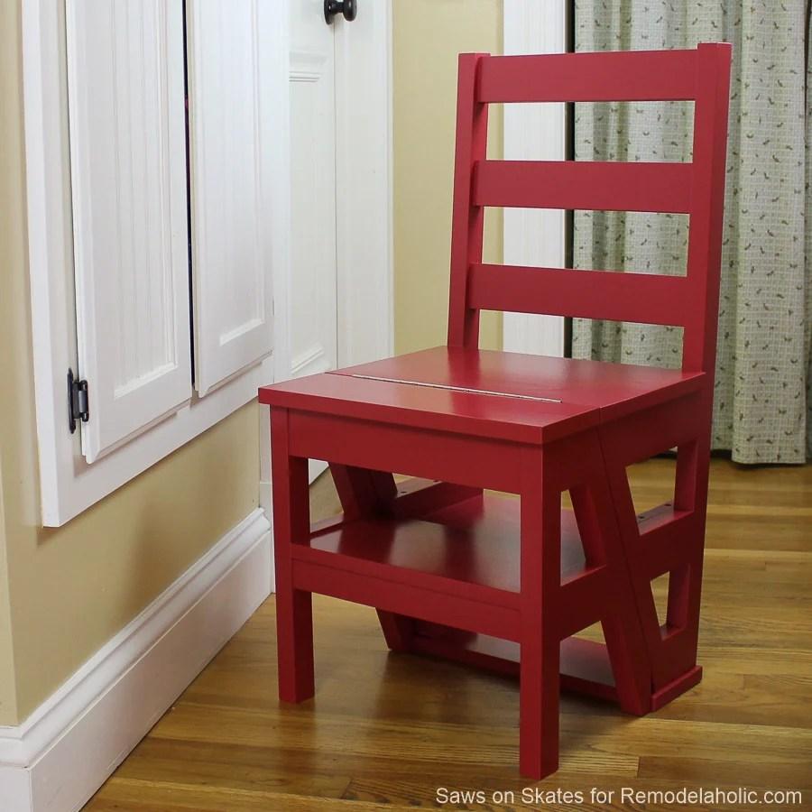Diy Ladder Chair Sawsonskates Finished 3