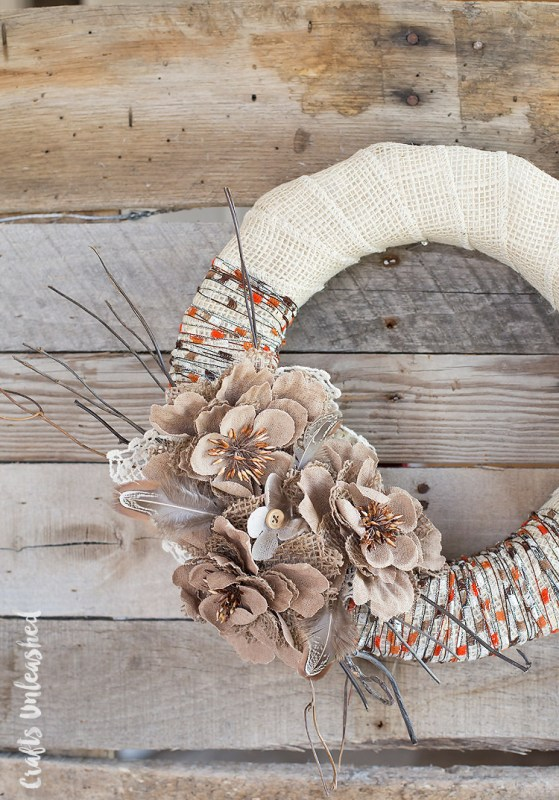 Fall Wreath Diy Rustic Consumer Crafts Unleashed 2
