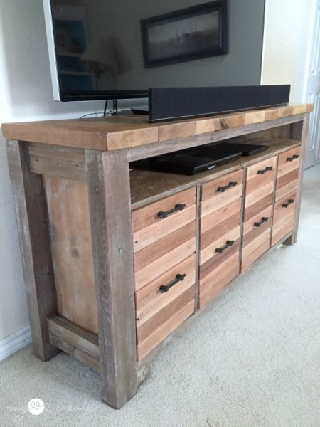Side Shot Of Media Console, MyLove2Create