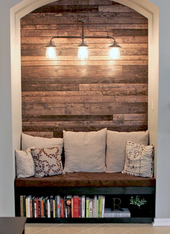 Great ideas for decorating a nook -- no more awkward alcoves! Beautiful and functional design ideas