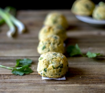 Coconut Flour Biscuits with Scallions and Herbs