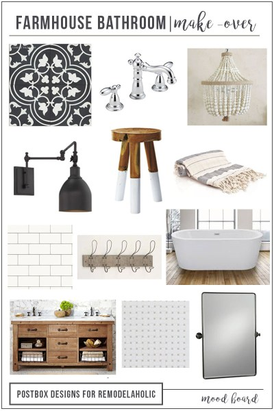 Farmhouse Bathroom Mood Board VERTICAL