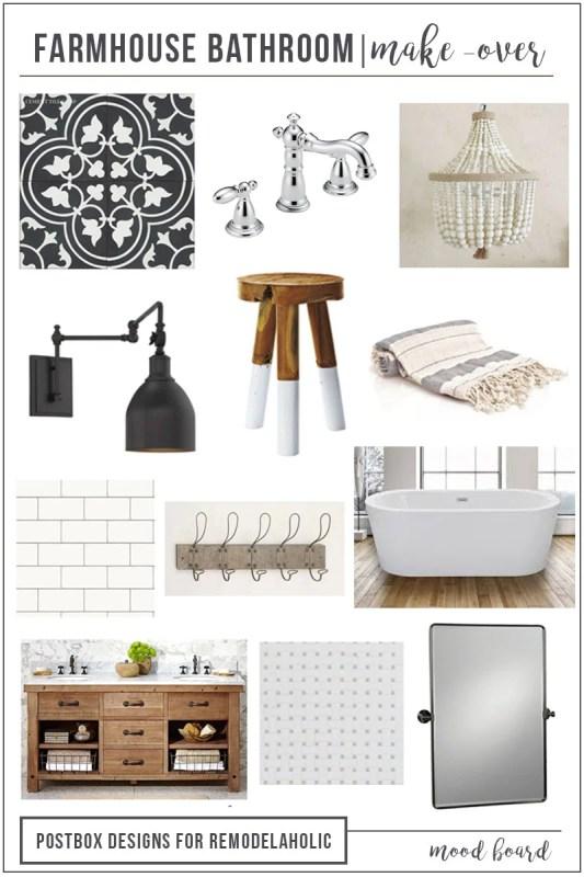 Farmhouse Bathroom Mood Board VERTICAL