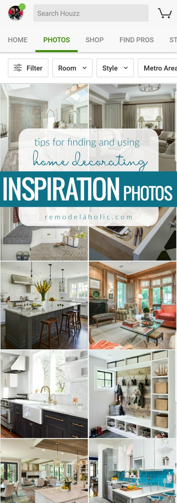 Houzz Tips For Finding And Using The Best Home Decorating Inspiration Photos From @Remodelaholic