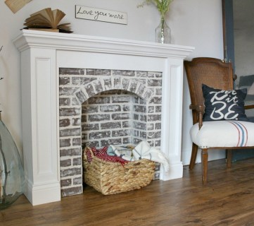 20 Gorgeous DIY Faux Fireplaces and Mantels