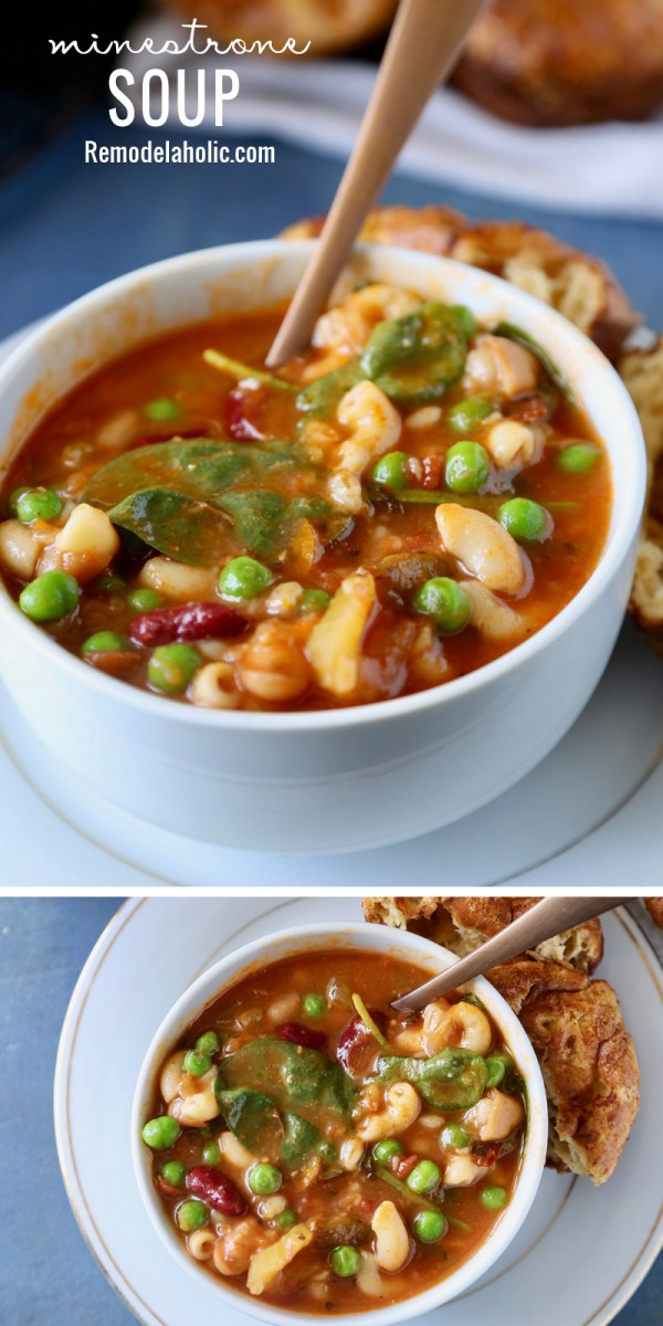 It's soup season! This Minestrone Soup is so delicious for fall and winter! Get the recipe at Remodelaholic.com