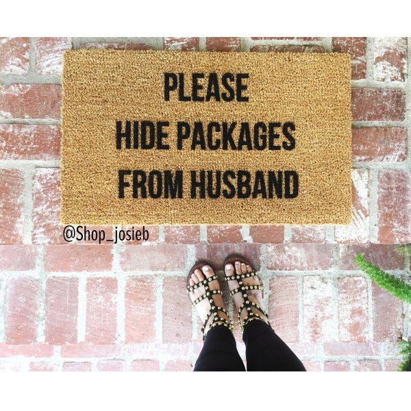 Please Hide Packages From Husband Door Mat