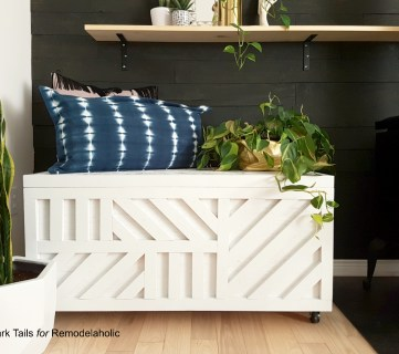 Easy Plywood Storage Box with Geometric Inlay