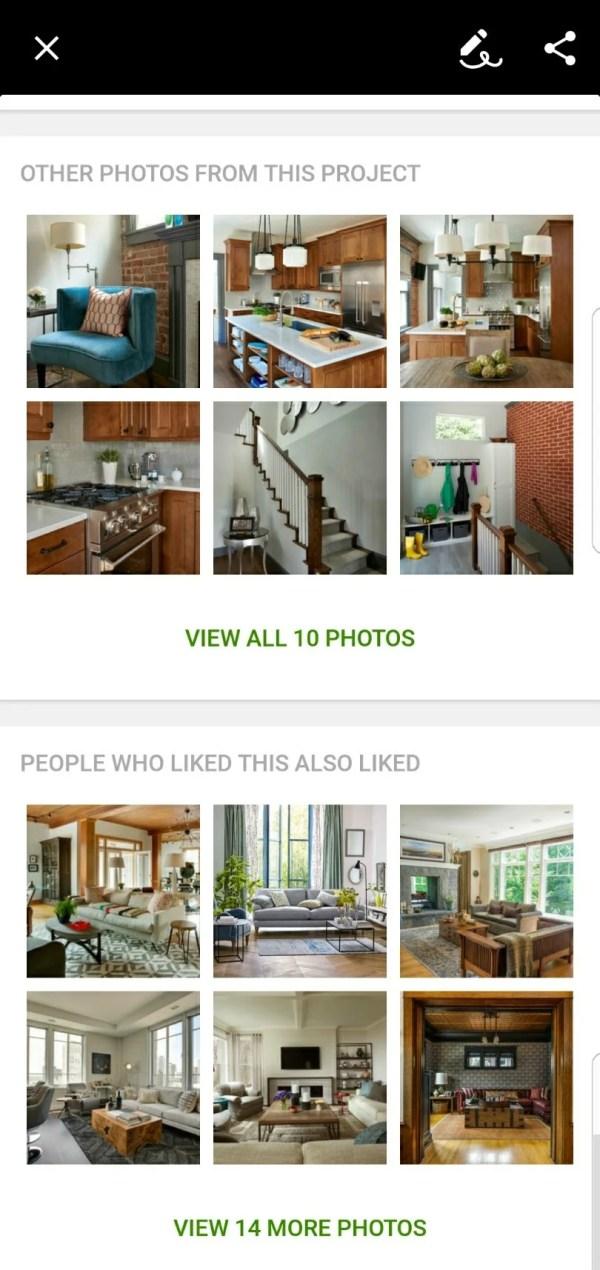 Houzz Home Inspiration Screenshot