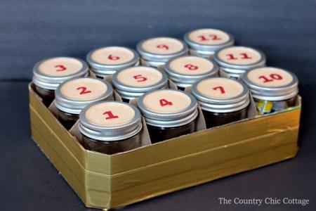 Mason Jar Advent Calendar