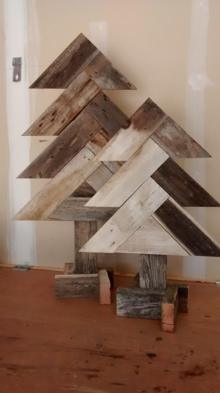 Remodelaholic Herring Bone Tree Finish Pic In Garage (3)