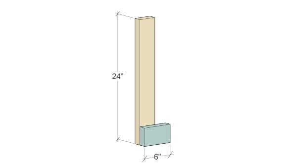 Remodelaholic Herringbone Tree Cut Stand Assembly 1