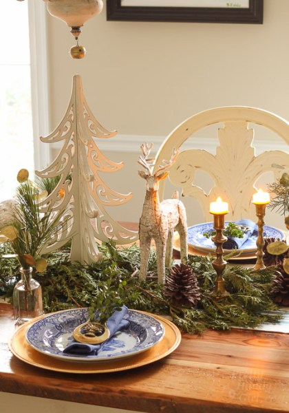 Vertical Woodland Tablescape