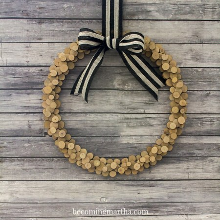 Wood Slice Wreath 5