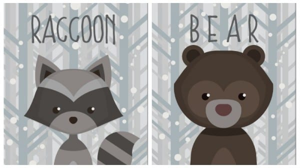 Adorable Winter Wildlife Creatures Printables At Remodelaholic.com