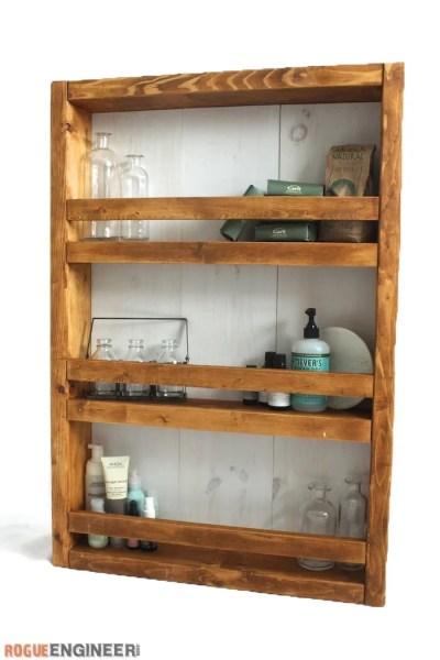 Apothecary DIY Wall Shelf Plans Rogue Engineer 21