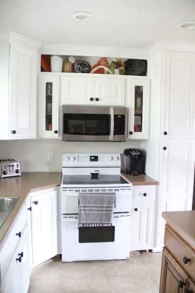 Build Custom Open Shelving Above Cabinets 2