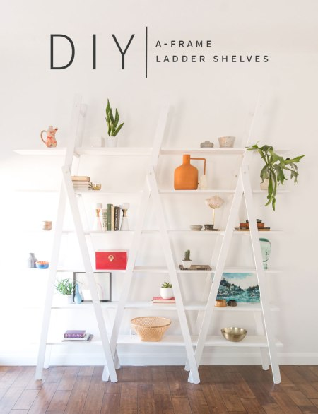 DIY A Frame Ladder Shelves Vintage Revivals