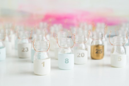 DIY Paint Dipped Advent Calendar Bottles Fall For DIY 5